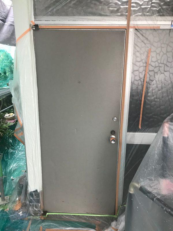 玄関扉シート貼り