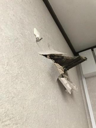 台風被害の外壁補修