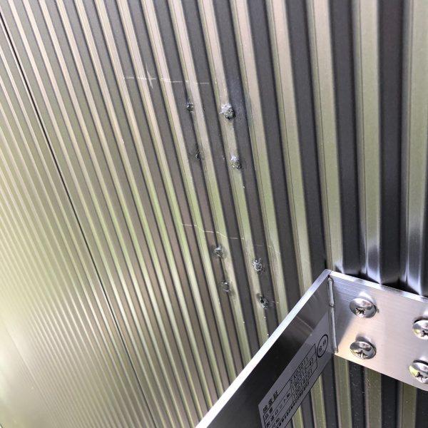 ガルバリウム鋼板 ヘコミリペア